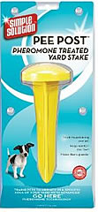 Pee post for yards to encourage a puppy to pee outside