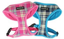 pink and blue small dog harnesses from Puppia
