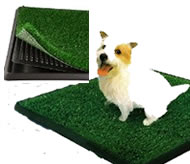 Image of PetZoom Park Indoor Pety Potty, acrylic grass pad for indoor dog potty