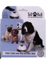 Tell Bell pet chime lets dogs use their paw to tell you when they need to go outside